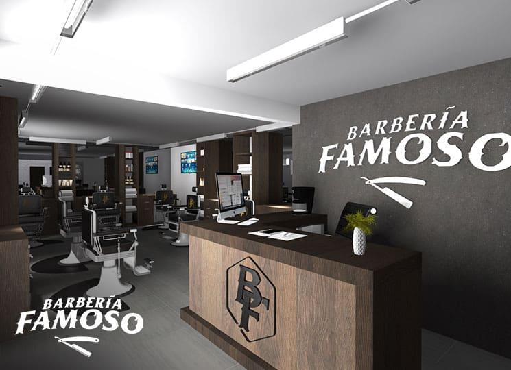 Mi franquicia - Barbería el Famoso modelo de instalaciones